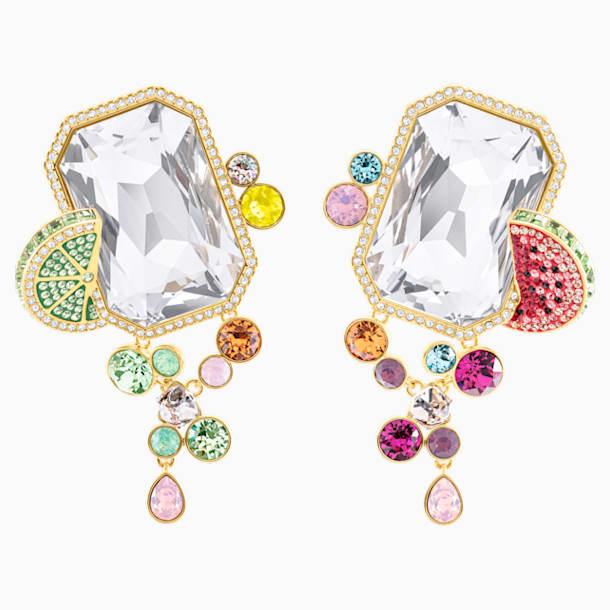 Optimum 夾式耳環, 多色設計, 鍍金色色調 - Swarovski, 5458833