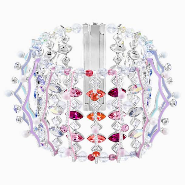 Braccialetto Neon, multicolore, Placcatura rodio - Swarovski, 5458984