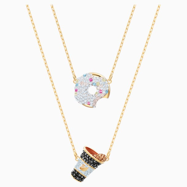 Nicest Set, Multi-coloured, Gold-tone plated - Swarovski, 5459142