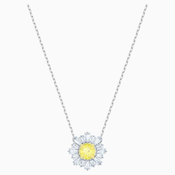 Napsugár medál, sárga, ródium bevonatú - Swarovski, 5459588
