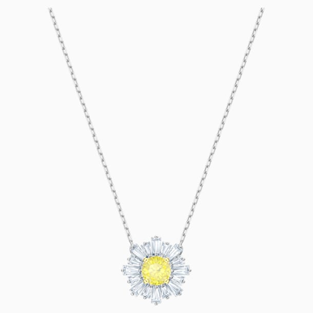 Sunshine Pendant, Yellow, Rhodium plated - Swarovski, 5459588