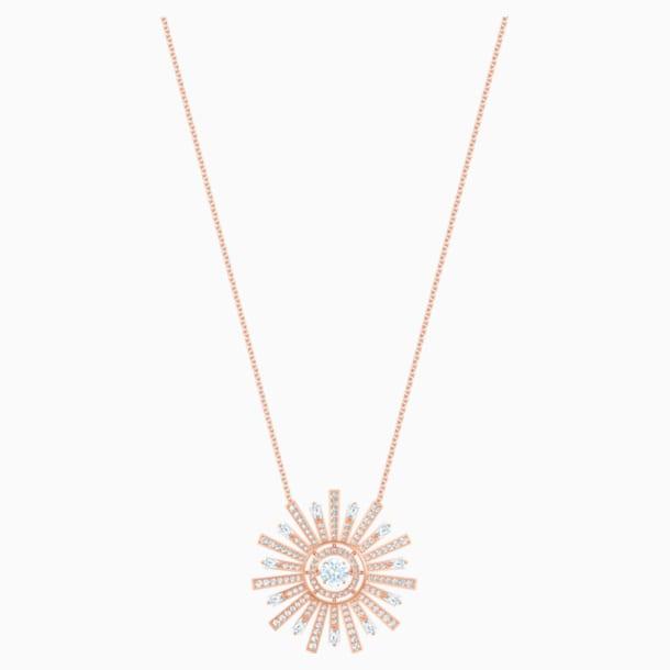 Colar Sunshine, branco, banhado com tom rosa dourado - Swarovski, 5459593