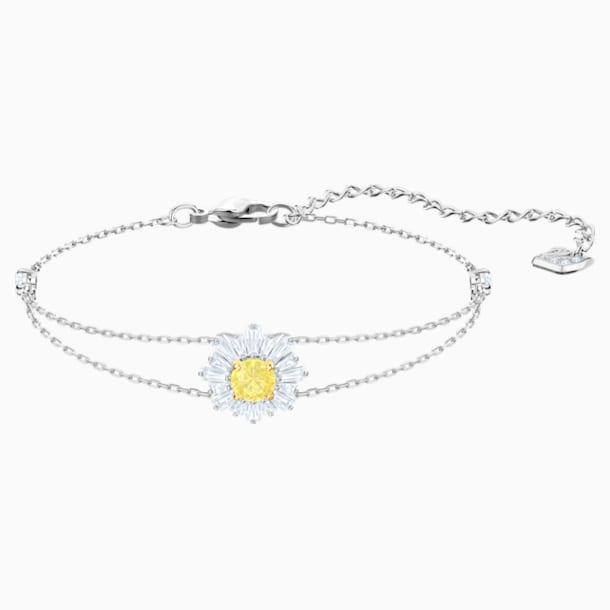 Bransoletka Sunshine, biała, powlekana rodem - Swarovski, 5459594