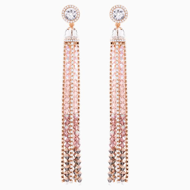 Ocean View Clip Earrings, Multi-coloured, Rose-gold tone plated - Swarovski, 5459965