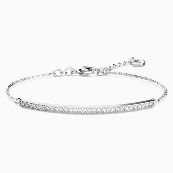 Only Bracelet, White, Rhodium plated - Swarovski, 5460440