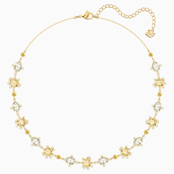 Olive Necklace, Multi-colored, Gold-tone plated - Swarovski, 5460987