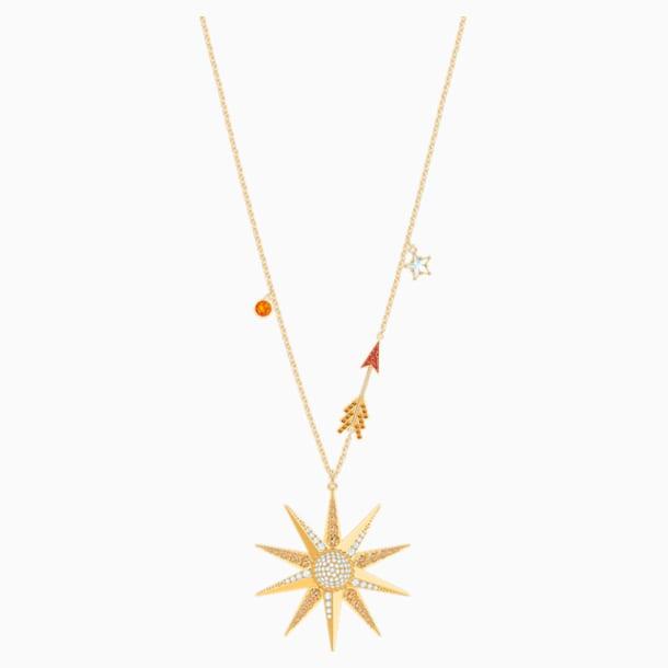 Lucky Goddess Star Necklace, Multi-coloured, Gold-tone plated - Swarovski, 5461784