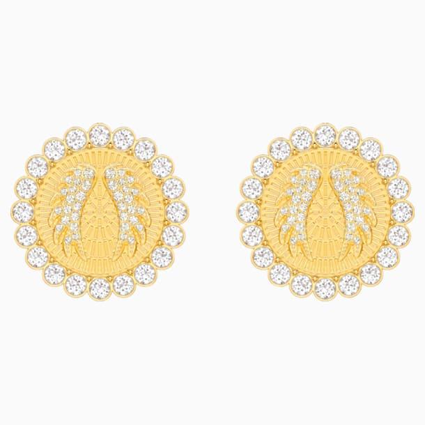 Lucky Goddess Clip Earrings, White, Gold-tone plated - Swarovski, 5464120