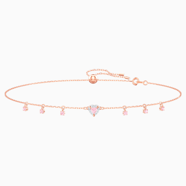 One Choker, Pink, Rose-gold tone plated - Swarovski, 5464162