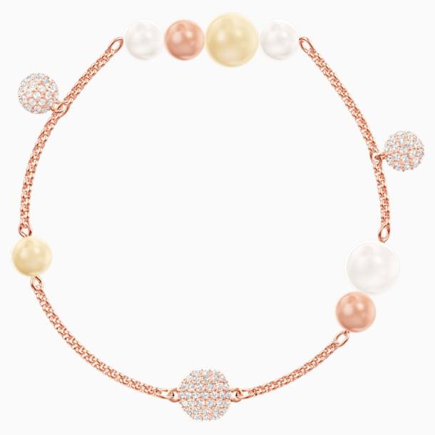 Łańcuszek z kolekcji Swarovski Remix z perłą, wielokolorowy, w odcieniu różowego złota - Swarovski, 5464297