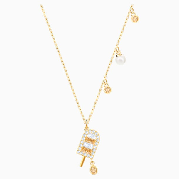 No Regrets Ice Cream Pendant, Multi-colored, Gold-tone plated - Swarovski, 5465294