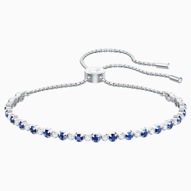 Braccialetto Subtle, azzurro, Placcatura rodio - Swarovski, 5465383