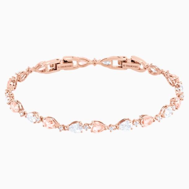Pulsera Vintage, rosa, Baño en tono Oro Rosa - Swarovski, 5466883