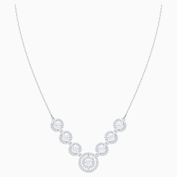 Sparkling Dance Halskette, weiss, Rhodiniert - Swarovski, 5467787