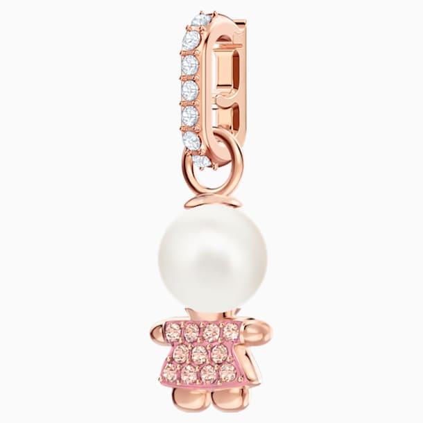 Swarovski Remix Collection Girl Charm, Pink, Rose-gold tone plated - Swarovski, 5468570