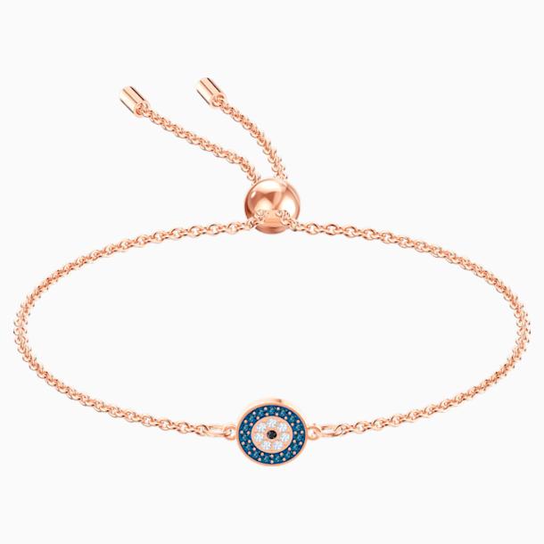 Luckily Bracelet, Multi-colored, Rose-gold tone plated - Swarovski, 5468924