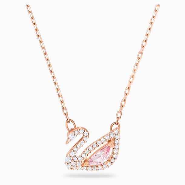 Colar Dazzling Swan, multicor, banhado a rosa dourado - Swarovski, 5469989