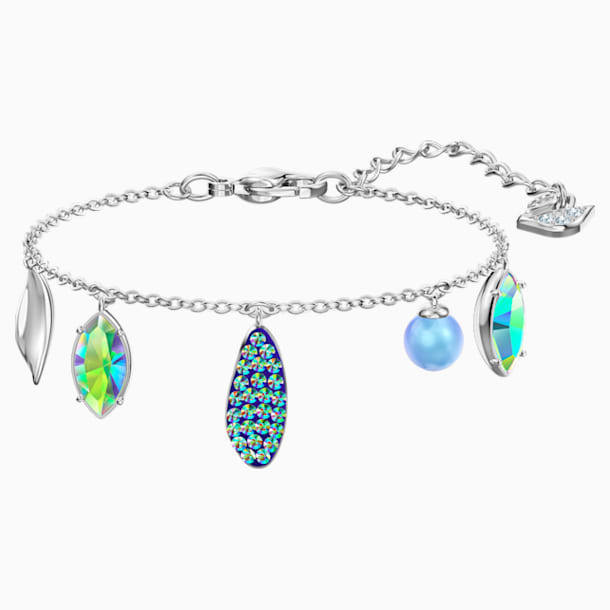 Organic Bracelet, Multi-coloured, Rhodium plated - Swarovski, 5470515