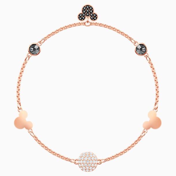 Swarovski Remix Collection Mickey Strand, Multi-colored, Rose-gold tone plated - Swarovski, 5470623