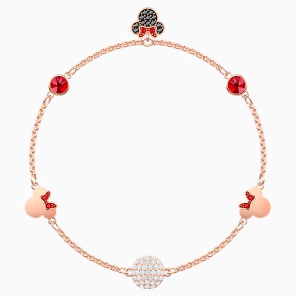 Swarovski Remix Collection Minnie Strand, Multi-colored, Rose-gold tone plated - Swarovski, 5470624