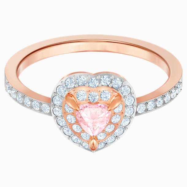 One Ring, Multi-colored, Rose-gold tone plated - Swarovski, 5470691