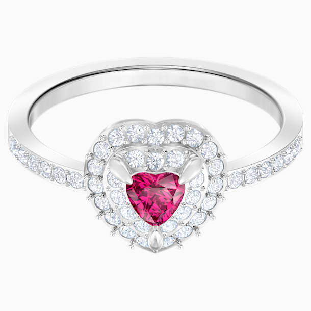One Ring, Red, Rhodium plated - Swarovski, 5470694