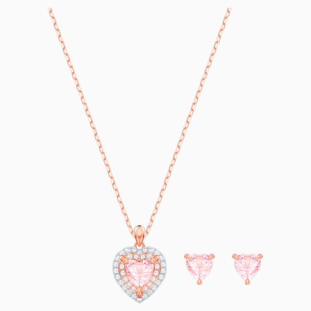 One Set, Multi-colored, Rose-gold tone plated - Swarovski, 5470897