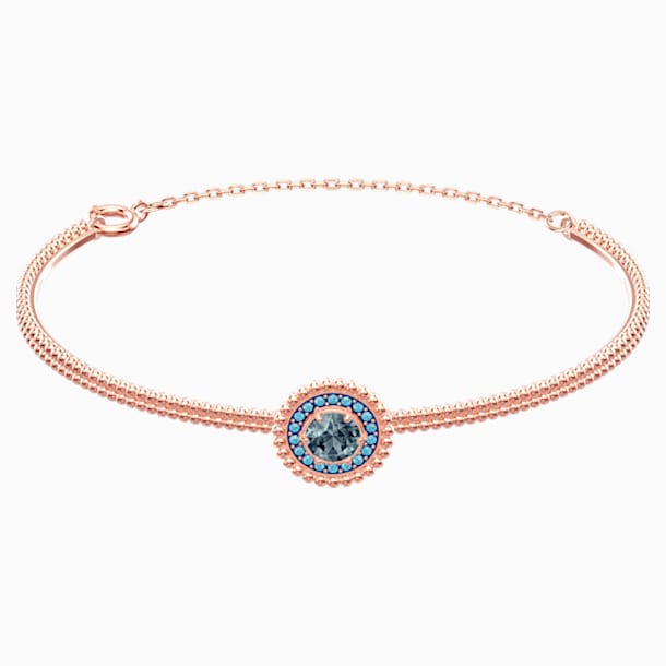Oxygen Bangle, Grey, Rose-gold tone plated - Swarovski, 5470970