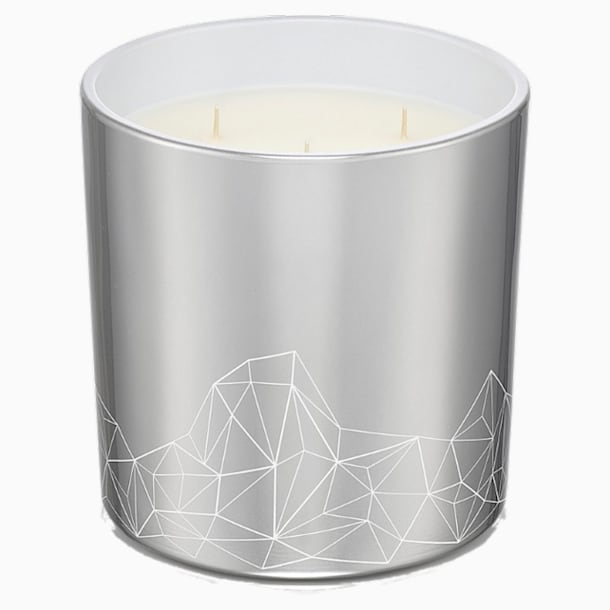 Candle, Walnut & Fig, Large, Silver tone - Swarovski, 5471056