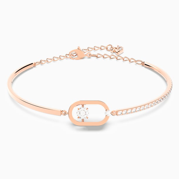 North Bracelet, White, Rose-gold tone plated - Swarovski, 5472382
