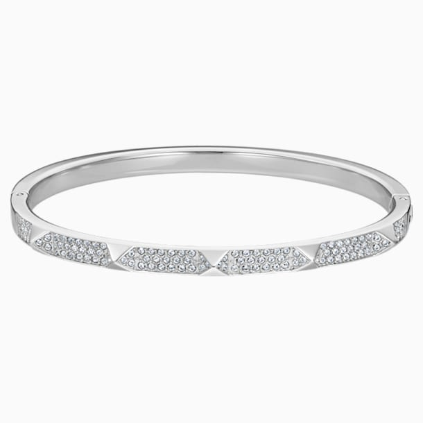 Tactic Bangle, White, Stainless steel - Swarovski, 5472585