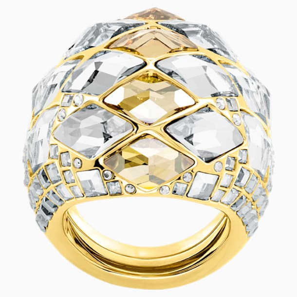 Notorious Cocktail Ring, Multi-colored, Gold-tone plated - Swarovski, 5473761