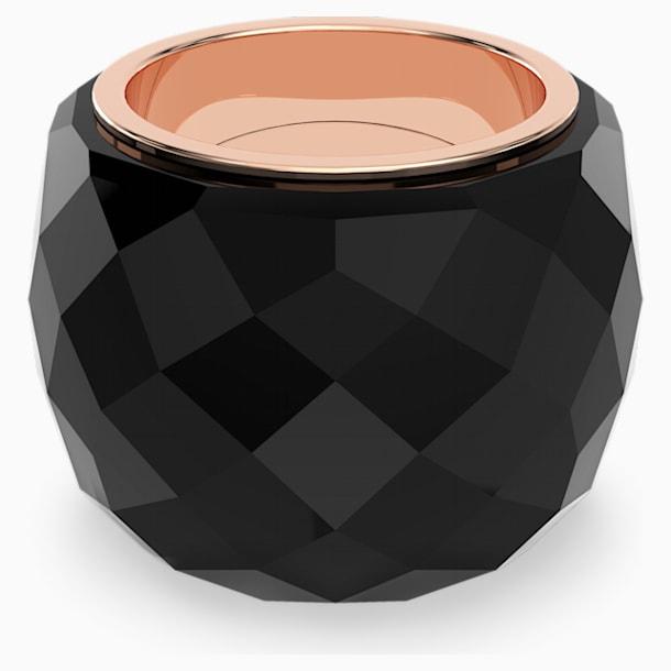 Swarovski Nirvana Ring, Black, Rose-gold tone PVD - Swarovski, 5474369