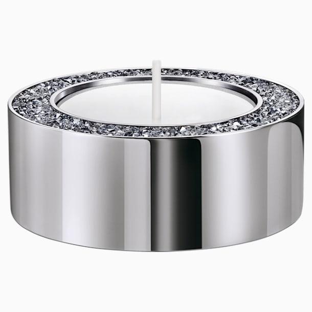 Stojánek na čajovou svíčku Minera, malý, stříbrný - Swarovski, 5474386