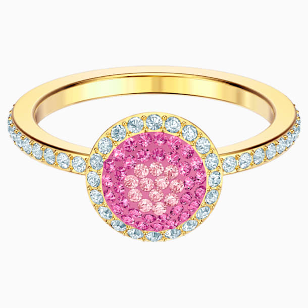 Bague No Regrets, multicolore, métal doré - Swarovski, 5474420