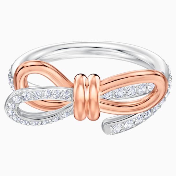 Lifelong Bow Ring, Medium, White, Mixed metal finish - Swarovski, 5474928