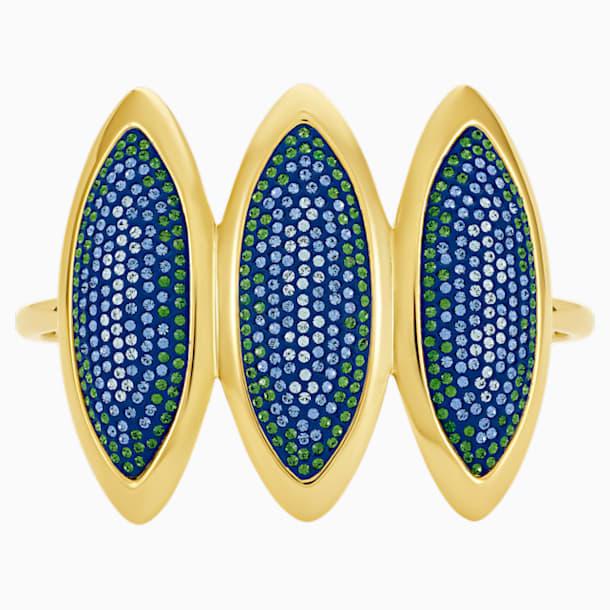 Evil Eye Cuff, Blue, Gold-tone plated - Swarovski, 5477548