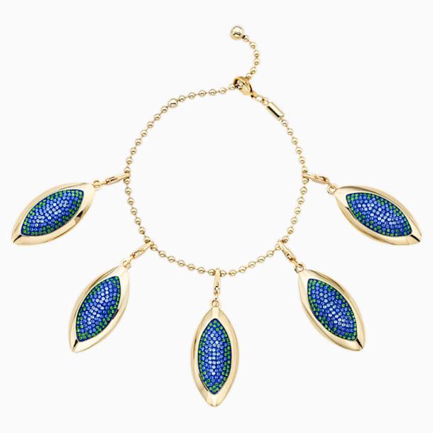 Bracelet Evil Eye, bleu, métal doré - Swarovski, 5477549
