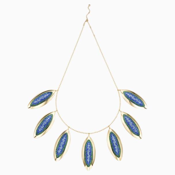 Evil Eye Statement Necklace, Large, Blue, Gold-tone plated - Swarovski, 5477552