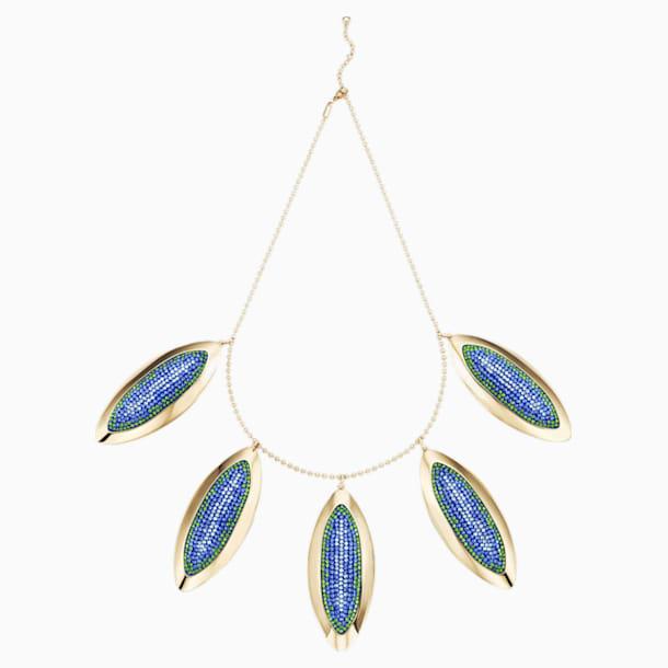 Collar distintivo Evil Eye, azul, baño tono oro - Swarovski, 5477554