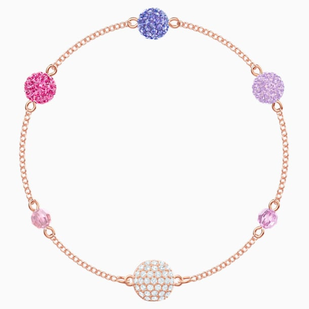 Swarovski Remix Collection Pop Strand, Purple, Rose-gold tone plated - Swarovski, 5479010
