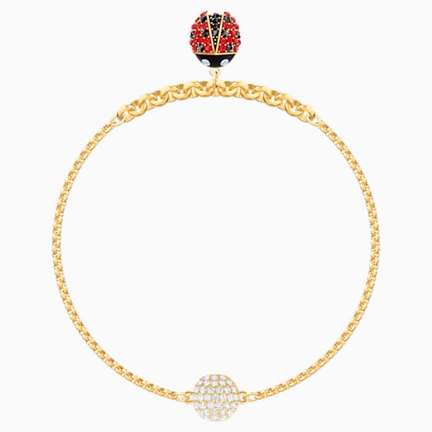 Swarovski Remix Collection Ladybug Strand, Cok Renkli, Altın rengi kaplama - Swarovski, 5479016