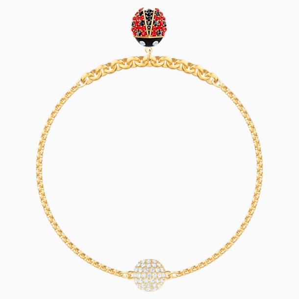 Swarovski Remix Collection Ladybug Strand, Multi-coloured, Gold-tone plated - Swarovski, 5479016