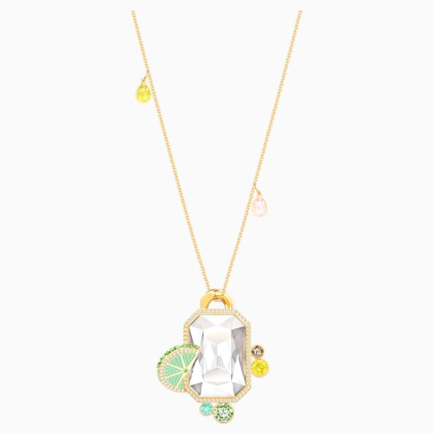 No Regrets Pendant, Multi-coloured, Gold-tone plated - Swarovski, 5480241