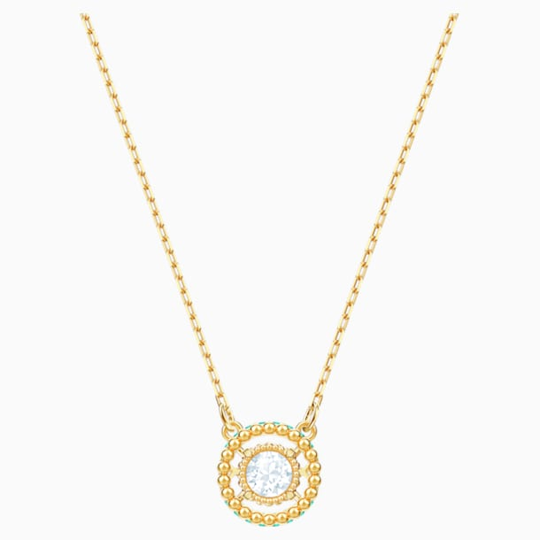 Oxygen Necklace, Multi-coloured, Gold-tone plated - Swarovski, 5481256