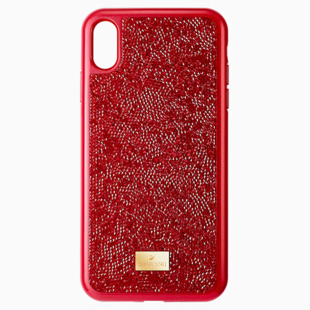 Glam Rock Smartphone Case, iPhone® XS Max, Red - Swarovski, 5481454