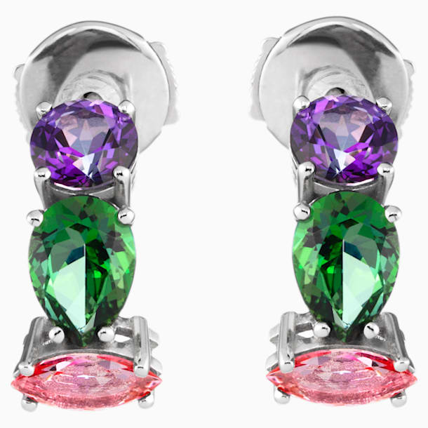 Arc-en-ciel Earrings, Multi-Coloured Treated Swarovski Genuine Topaz, 18K White Gold - Swarovski, 5481761