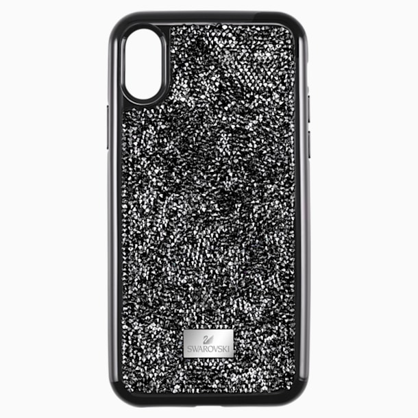 Coque rigide pour smartphone avec cadre amortisseur Glam Rock, iPhone® XR, noir - Swarovski, 5482282
