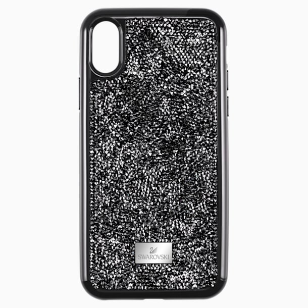 Glam Rock Smartphone Case with Bumper, iPhone® XS Max, Black - Swarovski, 5482283
