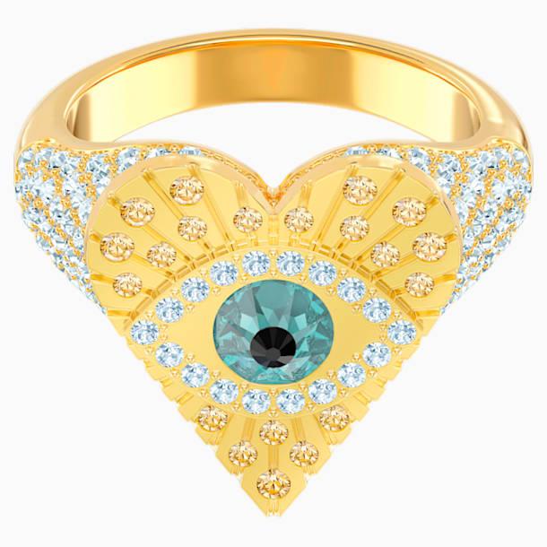 Lucky Goddess Heart Motif Ring, Multi-coloured, Gold-tone plated - Swarovski, 5482528